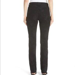 NEW Lafayette 148 Thompson Black Floral Jeans 12